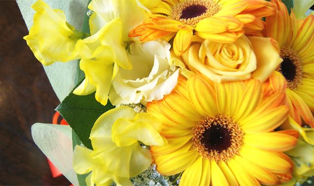 黄色のガーベラの花束 送料無料 ネット通販花屋花樹有(かじゅある )